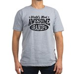 World's Most Awesome Grandpa Men's Fitted T-Shirt