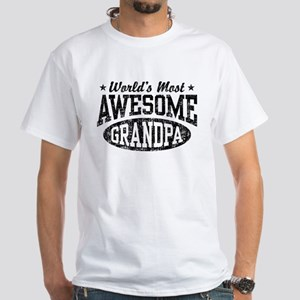 World's Most Awesome Grandpa White T-Shirt