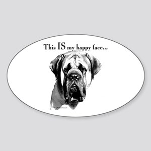 Mastiff 137 Oval Sticker