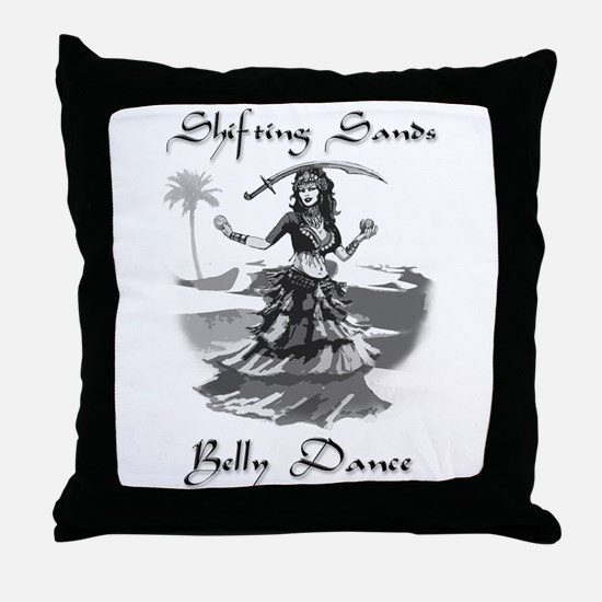 Shifting Sands Belly Dance Throw Pillow