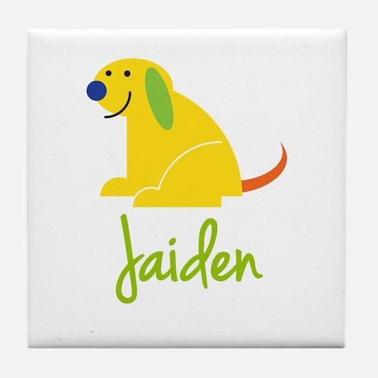 Jaiden Loves Puppies Tile Coaster