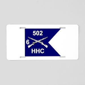 HHC/6/502 Aluminum License Plate