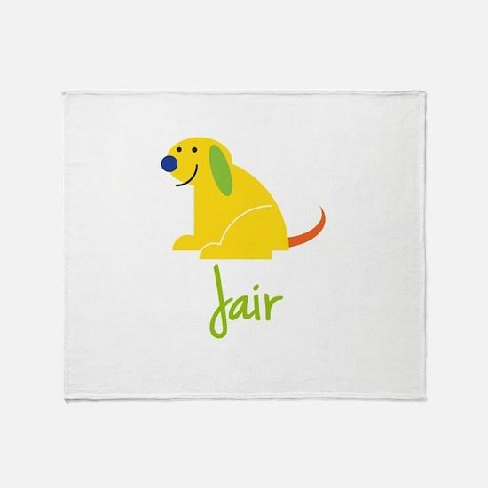 Jair Loves Puppies Throw Blanket