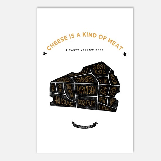 Cheese chart Postcards (Package of 8)