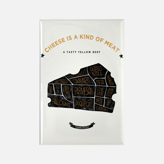 Cheese chart Rectangle Magnet