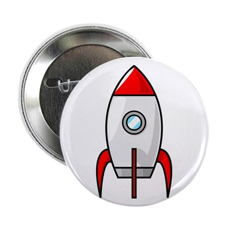 """red and white rocket 2.25"""" Button (10 pack)"""