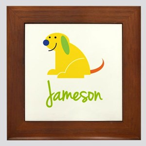 Jameson Loves Puppies Framed Tile