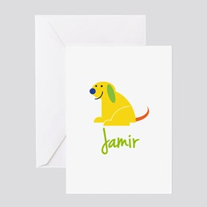 Jamir Loves Puppies Greeting Card
