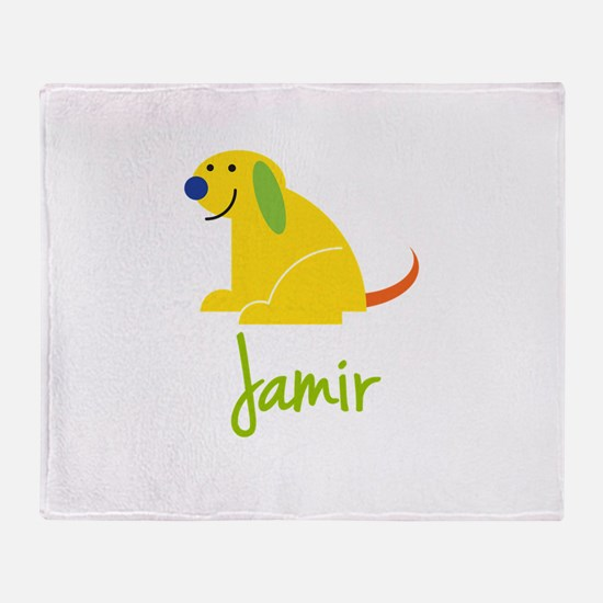 Jamir Loves Puppies Throw Blanket