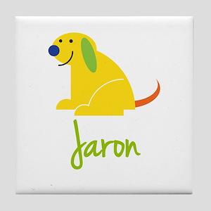 Jaron Loves Puppies Tile Coaster