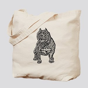 American Bully Dog Tote Bag