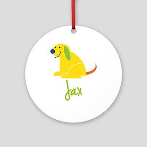 Jax Loves Puppies Ornament (Round)