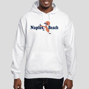 Naples Beach - Map Design. Hooded Sweatshirt