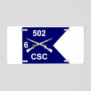 CSC6502guidon Aluminum License Plate