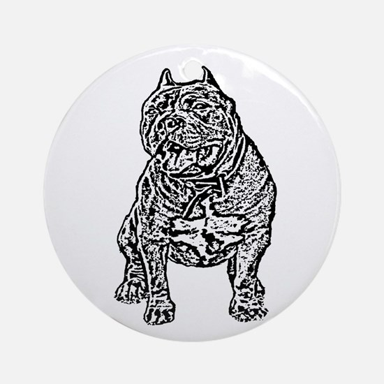 American Bully Dog Ornament (Round)