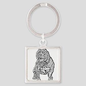 American Bully Dog Keychains