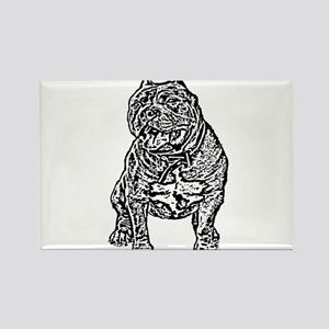 American Bully Dog Rectangle Magnet