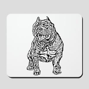 American Bully Dog Mousepad