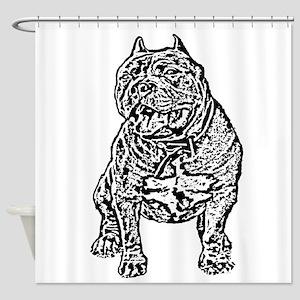 American Bully Dog Shower Curtain