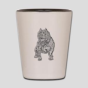 American Bully Dog Shot Glass