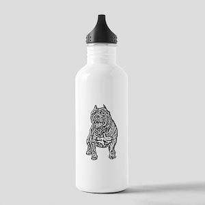 American Bully Dog Water Bottle