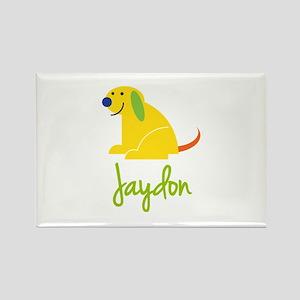 Jaydon Loves Puppies Rectangle Magnet
