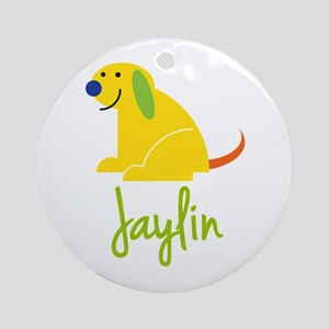 Jaylin Loves Puppies Ornament (Round)