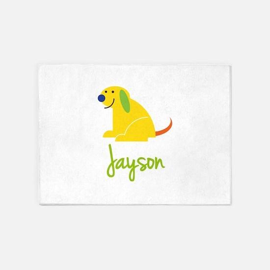 Jayson Loves Puppies 5'x7'Area Rug