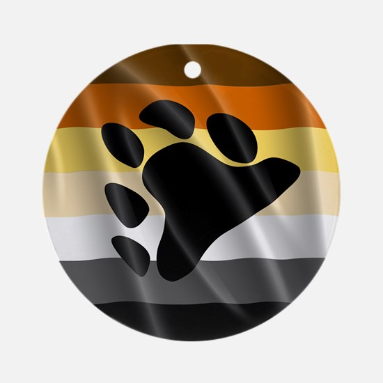 BEAR PRIDE FLAG Ornament (Round)