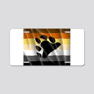 BEAR PRIDE FLAG Aluminum License Plate