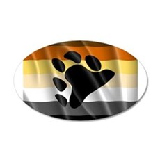 BEAR PRIDE FLAG Wall Decal