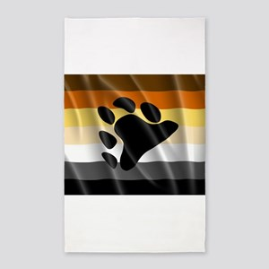 BEAR PRIDE FLAG 3'x5' Area Rug