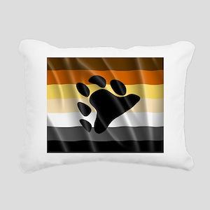 BEAR PRIDE FLAG Rectangular Canvas Pillow