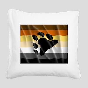 BEAR PRIDE FLAG Square Canvas Pillow