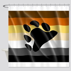 BEAR PRIDE FLAG Shower Curtain