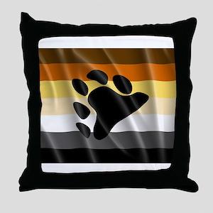 BEAR PRIDE FLAG Throw Pillow