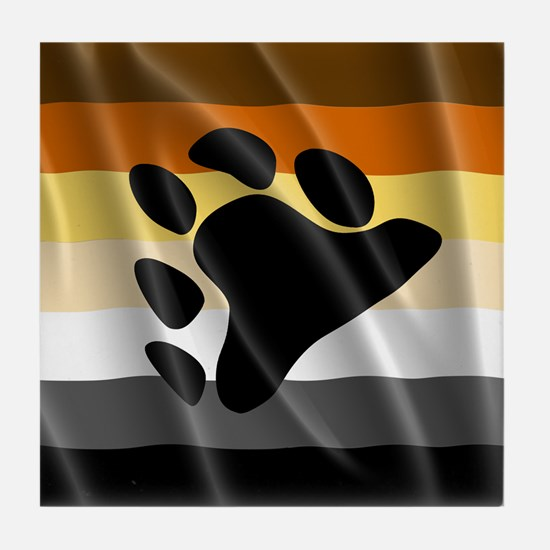 BEAR PRIDE FLAG Tile Coaster