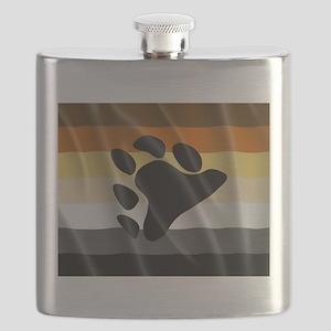 BEAR PRIDE FLAG Flask