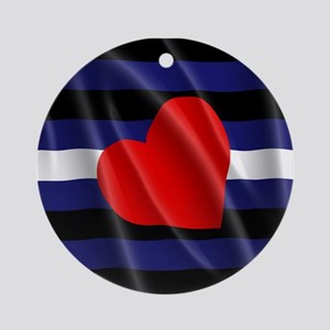 LEATHER PRIDE FLAG Ornament (Round)