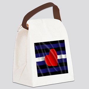 LEATHER PRIDE FLAG Canvas Lunch Bag