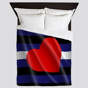 LEATHER PRIDE FLAG Queen Duvet