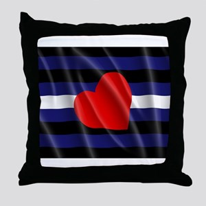 LEATHER PRIDE FLAG Throw Pillow