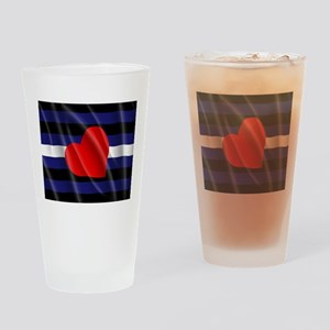 LEATHER PRIDE FLAG Drinking Glass