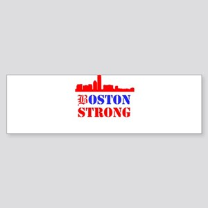 Boston Strong Red and Blue Bumper Sticker