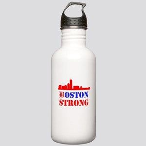 Boston Strong Red and Blue Water Bottle