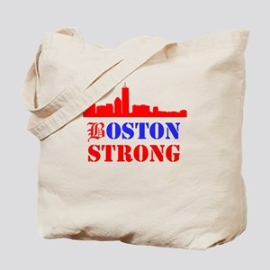 Boston Strong Red and Blue Tote Bag