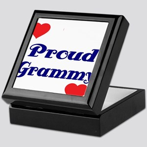 Proud Grammy with hearts Keepsake Box
