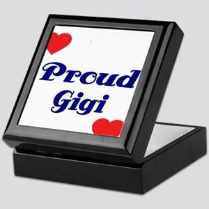 Proud Gigi with hearts Keepsake Box