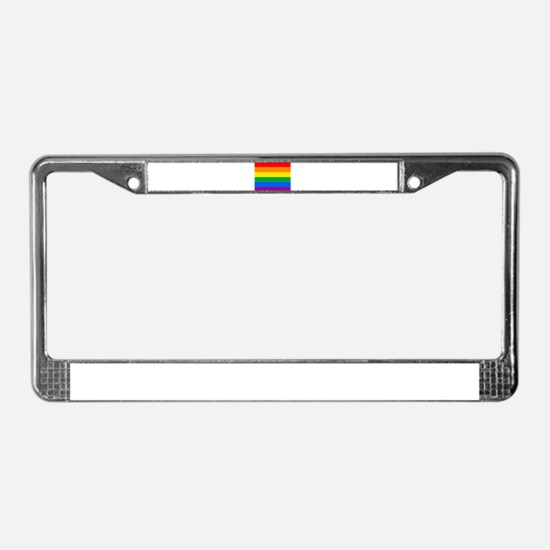 GAY PRIDE FLAG - RAINBOW FLAG License Plate Frame