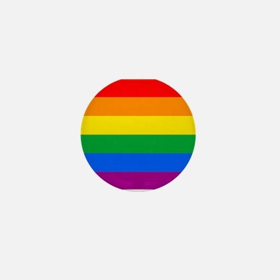 GAY PRIDE FLAG - RAINBOW FLAG Mini Button